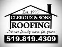 Cleroux & Sons Roofing Logo